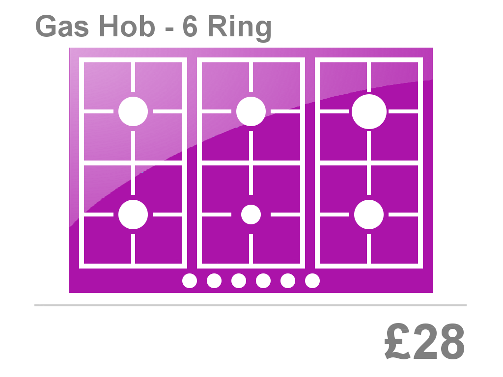6 Ring Gas Hob Clean Price Bristol